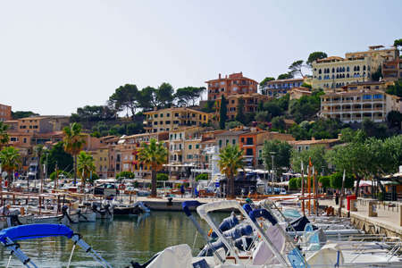 Beautiful view of Port de Soller, Medierranean Sea. Spain.
