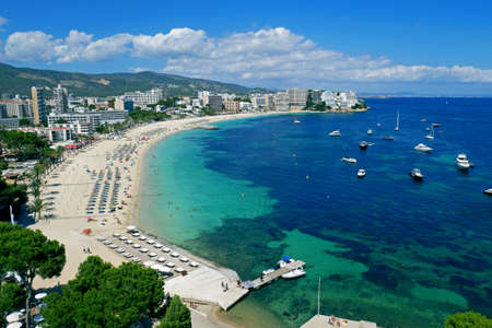 Magaluf Beach, Calvia, Mallorca, Balearics, Spain