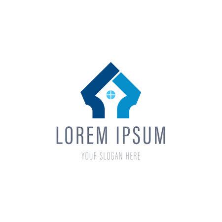 Home creative symbol concept. Corporate identity , company graphic design