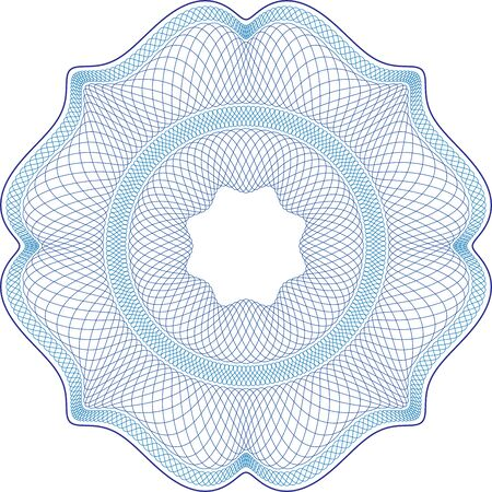 Complex vector patterns that are used in currency and diplomas. Color and layers can be customized. Vector Illustratie