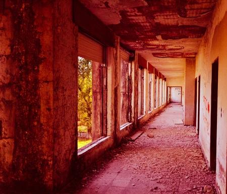 est: est abandoned corridor Stock Photo