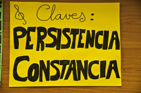 persistence: Persistence and witness in Spanish