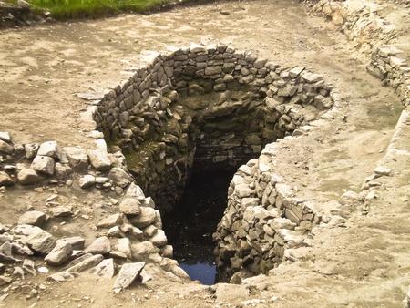 archeologist: Excavation of a hopscotch Stock Photo