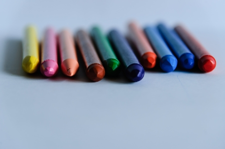 waxes: Waxes of colors to do and to draw Stock Photo