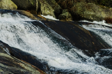 currents: River with a few very strong currents of water