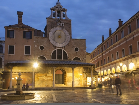 oldest: San Giacomo di Rialto oldest church in Venice, Italy