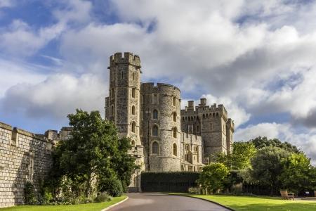 castillo medieval: Castillo de Windsor, cerca de Londres, Reino Unido