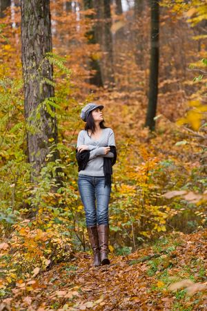 Portrait of a pretty woman outdoor Stock Photo - 2068383