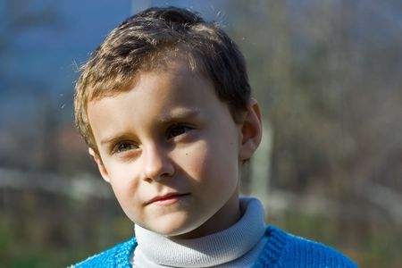 Portrait of a beautiful thoughtful child Stock Photo - 2139362