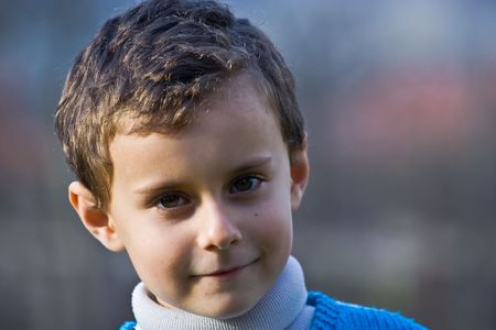 Portrait of a smiling beautiful child Stock Photo - 2139364