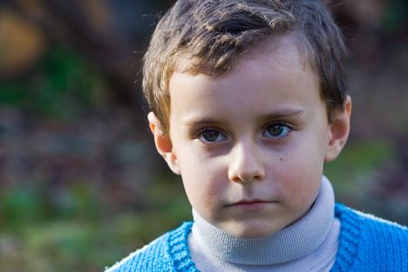 Portrait of a beautiful thoughtful child Stock Photo - 2139363