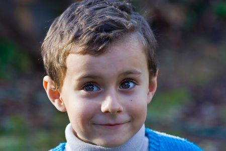 Portrait of a smiling beautiful child Stock Photo - 2139365