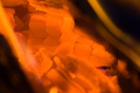 embers: Embers and burning wood
