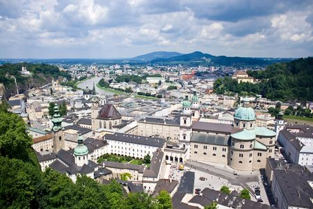 View of city of Salzburg in Austria photo