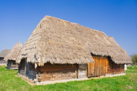 thatch: Old houses with roof of thatch