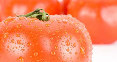 Close up of tomatoes isolated on white background Stock Photo - 4377702
