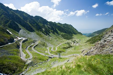 fagaras: Landscape in Fagaras mountains in Romania, with Transfagarasan road