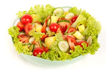 salads: Close up of a bowl with bio vegetable salad
