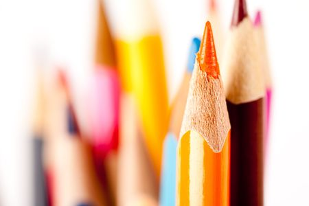 Close up of many pencils over blurred background, shallow depth of field Stock Photo - 6339560