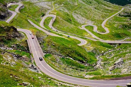 The Transfagarasan road in Romania, crossing the mountains Фото со стока