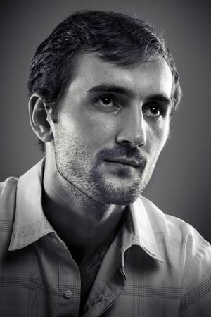Close up portrait of a young man studio shot Stock Photo - 7730793
