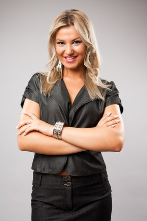 Portrait of a beautiful and successful blonde businesswoman photo