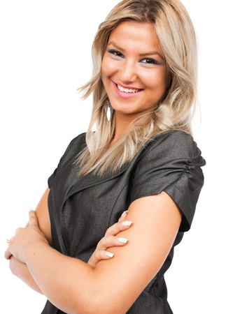 Portrait of a beautiful and successful blonde businesswoman Stock Photo - 7914172