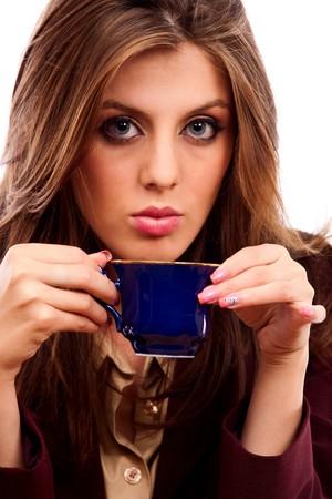 Portrait of a beautiful businesswoman enjoying her coffee Stock Photo - 7914136