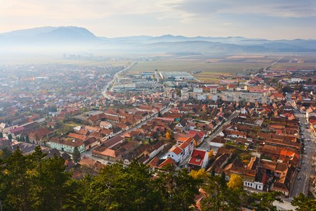 Rasnov - a Romanian town, view from towns fortress photo