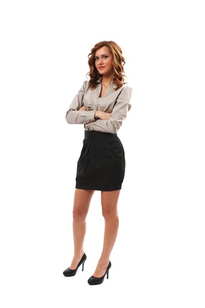nice body: Full length portrait of a young businesswoman