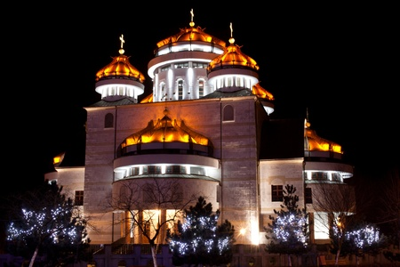 The new Orthodox cathedral in Mioveni, Romania photo