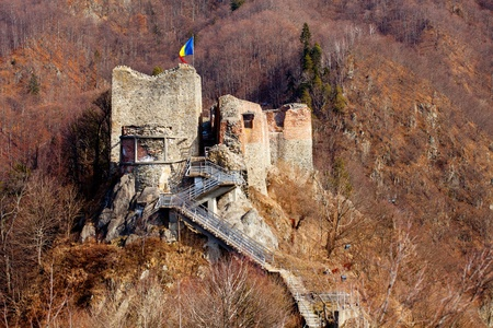 Poienari castle ruins, in Romania - the fortress of Vlad Tepes (Dracula) photo