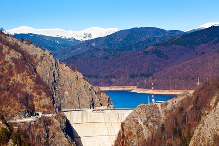 Landscape with dam lake Vidraru, in Romania Stock Photo - 8878169