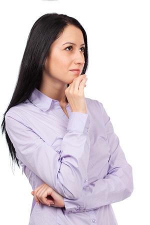 Beautiful hispanic businesswoman isolated on white background Stock Photo - 8980226