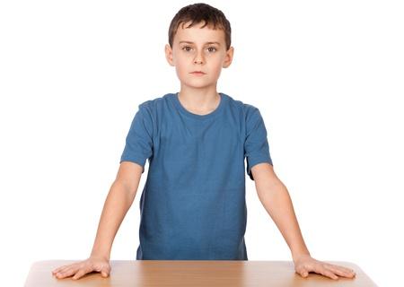 authoritative: Portrait of an authoritative schoolboy, chief of the class