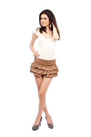 Beautiful alluring sexy young hispanic woman, full body portrait Stock Photo - 9244298