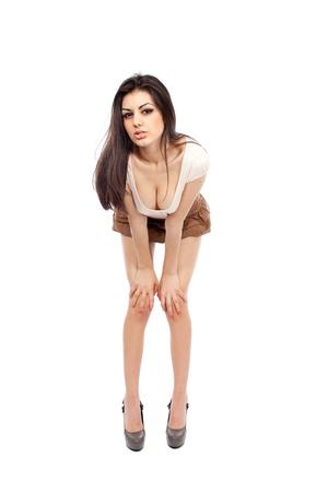Beautiful alluring sexy young hispanic woman, full body portrait Stock Photo - 9244293
