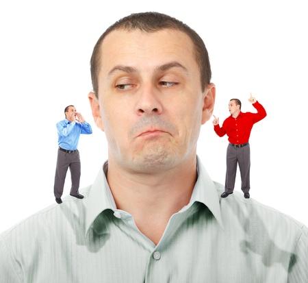 ind�cis: Businessman de son ind�cision dont les hommes d'affaires Elf conseils � suivre