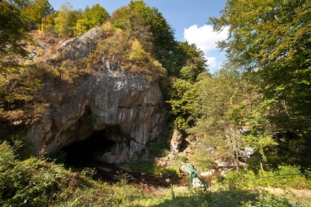 Entrance to the Bolii Cave in Romania, Parang mountain photo