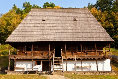 Old traditional Romanian house photo