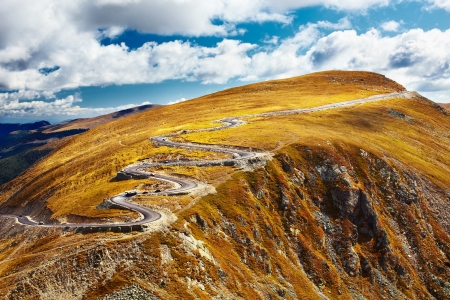 Transalpina, the highest road in Romania, crossing the Parang mountains Stock Photo