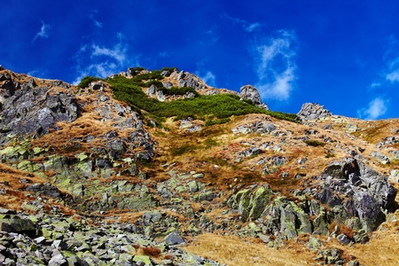 massif: Landscape of Parang mountains in Romania, in autumn