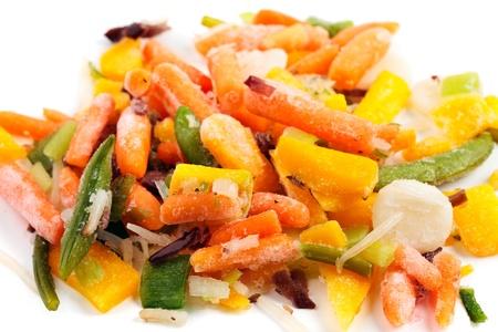 Fridge food - closeup of frozen vegetables photo