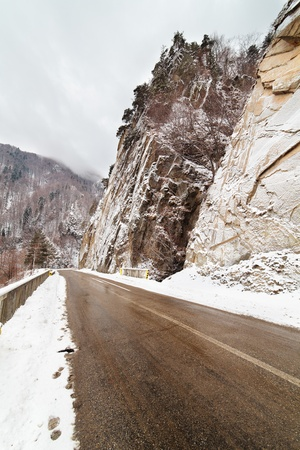 Transfagarasan highway in Romanian mountains pass photo