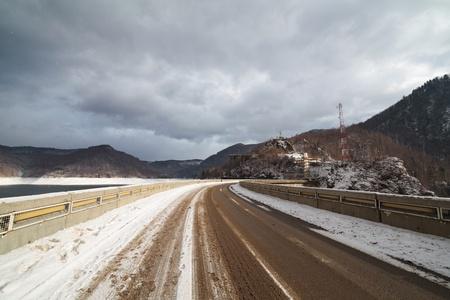 The Transfagarasan road in Romanian Fagaras mountains photo