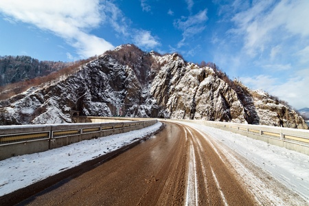 transfagarasan: The Transfagarasan road in Romanian Fagaras mountains