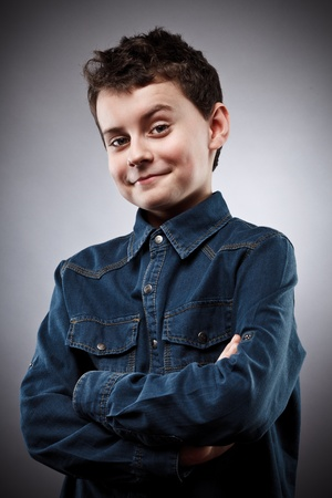 Studio portrait of a stylish cool boy photo