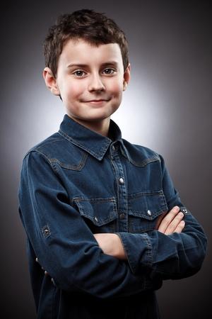 cool boy: Studio portrait of a stylish cool boy Stock Photo