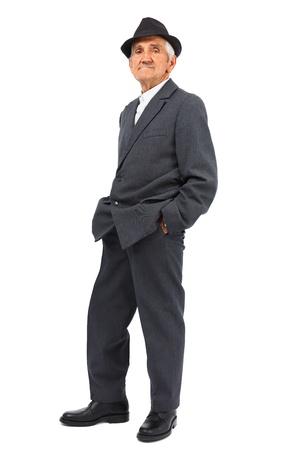 Full length portrait of a senior man isolated on white background Stock Photo - 13539100