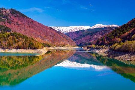 Landscape with lake and mountains Stock Photo - 13655875